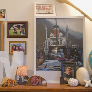 Eclectic home office photo in Vancouver