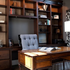 traditional home office by Elizabeth Reich