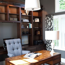 Transitional Home Office by Elizabeth Reich