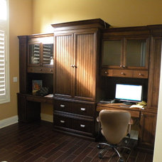 Tropical Home Office by Floridian Design Custom Cabinetry