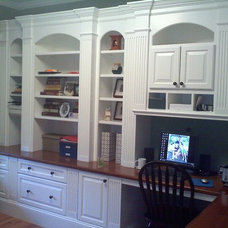 Traditional Home Office by Custom Home Finish