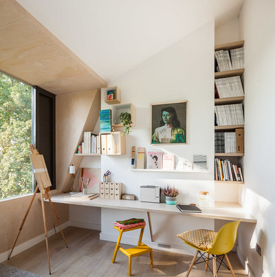 Contemporary Home Office & Library by Studio 30 Architects