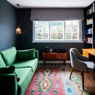 This is an example of a retro home office and library in London.