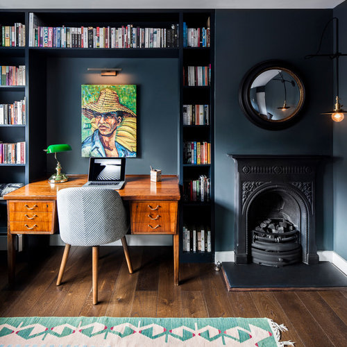retro home office. This Is An Example Of A Retro Home Office And Library In London