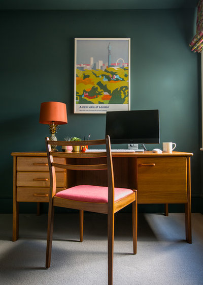 Midcentury Home Office & Library by Otta Design