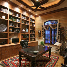 Mediterranean Home Office by Weber Design Group, Inc.