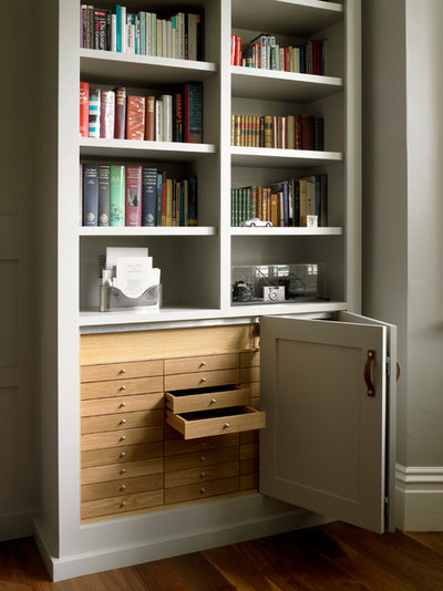 Traditional Home Office by Brayer Design