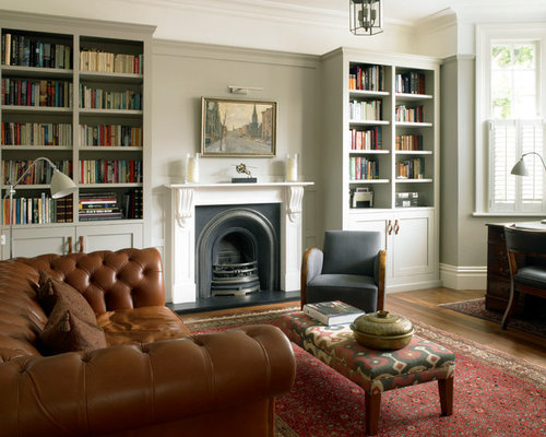 Built In Bookcase Fireplace Mantle | Houzz