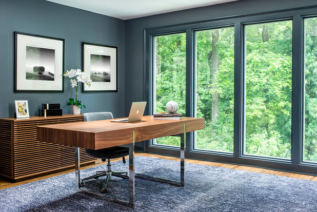 Contemporary Home Office by Weidmann Remodeling