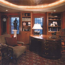 Traditional Home Office by Leslie Saul & Associates