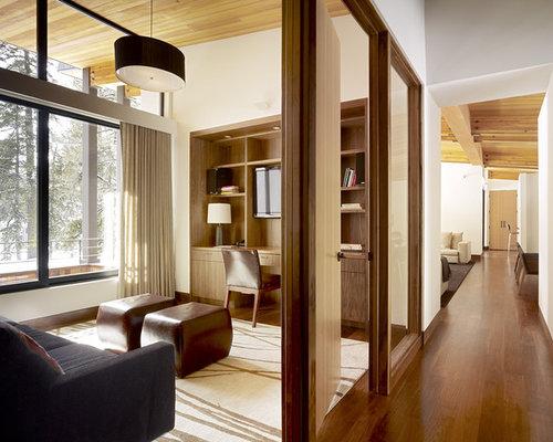 Modern Built In Desk Home Office Idea In Sacramento Part 23