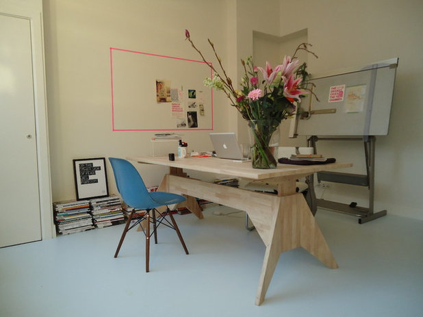 Contemporary Home Office by Saus Design