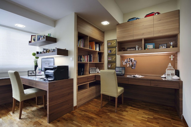 Modern Home Office by The Interior Place (S) Pte Ltd