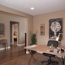 Contemporary Home Office by Candlelight Homes