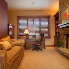 Traditional Home Office by CD Construction, Inc.