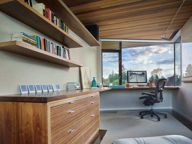 Contemporary Home Office by Lane Williams Architects