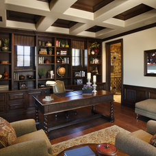 Traditional Home Office by Linda Seeger Interior Design