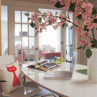Example of a trendy freestanding desk home office design in DC Metro