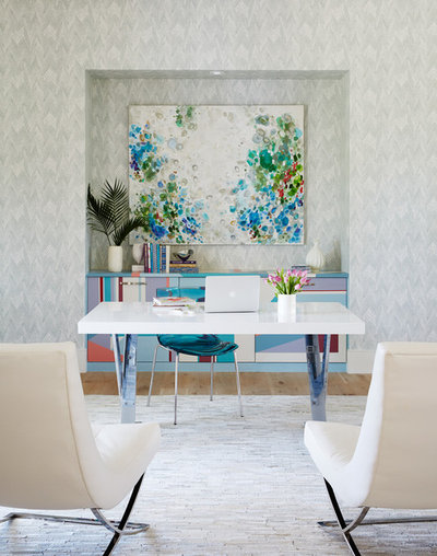 Contemporary Home Office & Library by Andrew Howard Interior Design