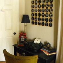 Eclectic Home Office by Susie Harris