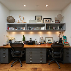 Contemporary Home Office by Dixon Construction, Inc.