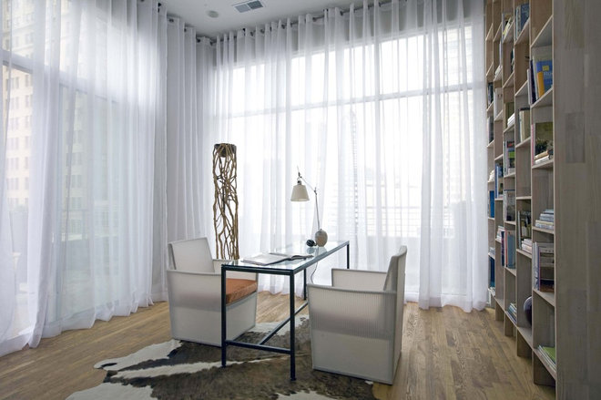 Contemporary Home Office by Sylvia Martin