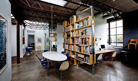 Bureau de la semaine : Un studio émerge d'un entrepôt en parpaings