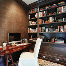 Traditional Home Office by DeRosa Builders LLC