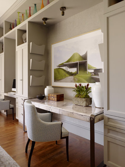 Contemporary Home Office by Jeffers Design Group