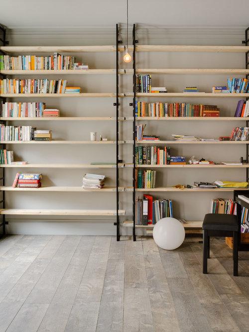 Reclaimed Scaffolding Board Shelving Design Ideas