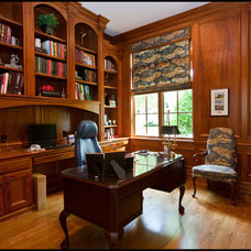 Traditional Home Office by LLB Traditional Design