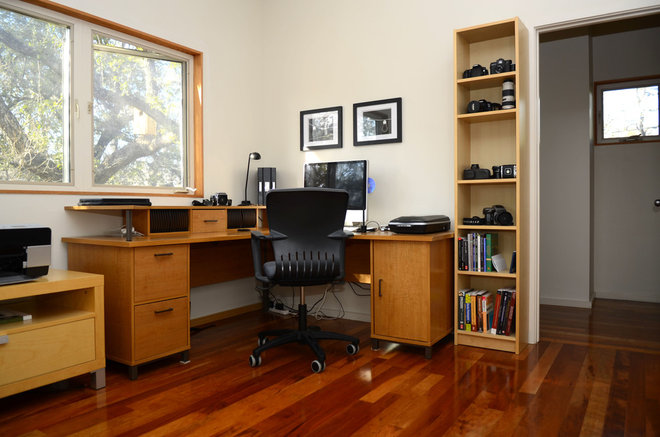 Contemporary Home Office by Kara Mosher