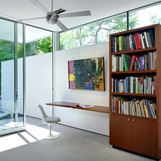 Midcentury Home Office by Steinbomer, Bramwell & Vrazel Architects