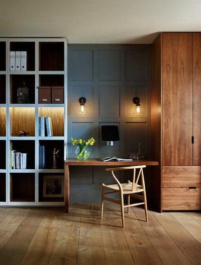 Contemporain Bureau à domicile by Kitchen Architecture