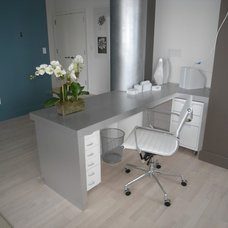 Contemporary Home Office by Kim Depole Design Inc
