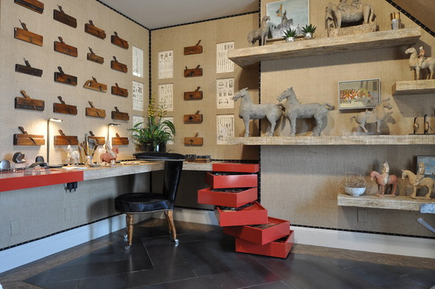 Contemporary Home Office by Janet Paik