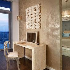 Contemporary Home Office by Laura Britt Design