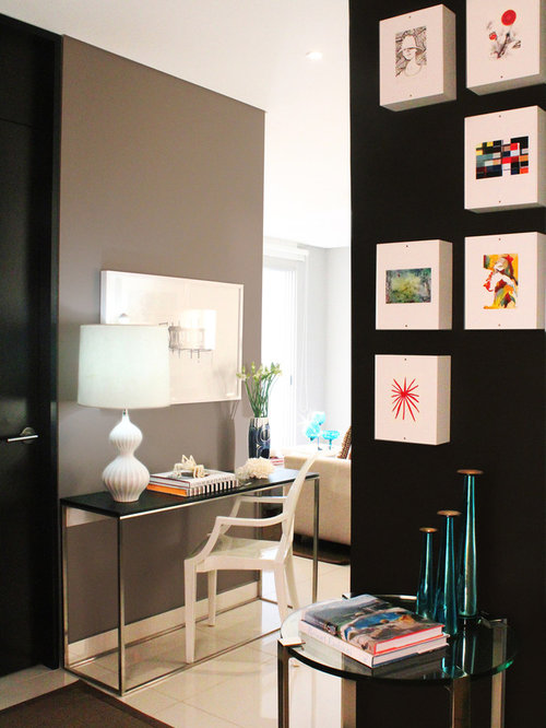 Small hallway design ideas remodel pictures houzz for Small hall design