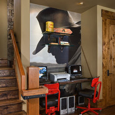 Contemporary Home Office by Teton Heritage Builders