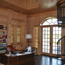 Traditional Home Office by Zoltan Construction LLC