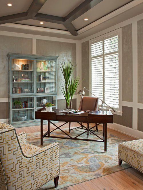 Tropical Miami Home Office Design Ideas Remodels Photos