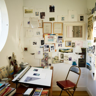 75 Trendy Small Industrial Home Office Design Ideas - Pictures of ...
