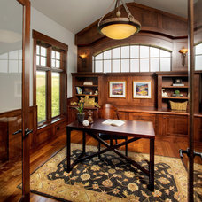 Traditional Home Office by Crystal Creek Homes