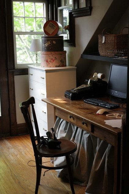 Eclectic Home Office the cinnamon post