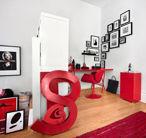 Contemporain Bureau à domicile by Lisa Petrole Photography