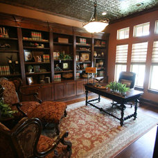 Farmhouse Home Office by Design Tech Homes