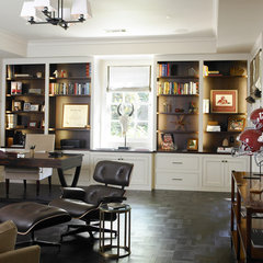 contemporary home office by The Design Atelier