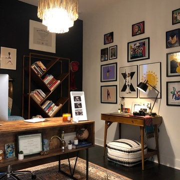 """The """"Electic Chic"""" Home Office"""