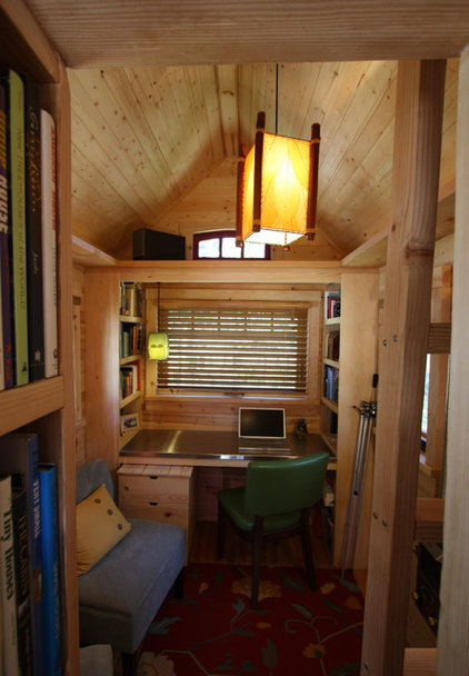 rustic home office by Tumbleweed Tiny House Company