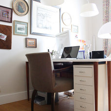 Eclectic Home Office by Holly Marder